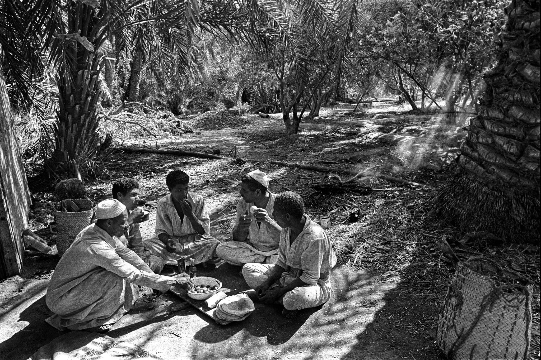 Sèrie: Els Oasis d'Egipte. Esmorzar. Siwa 1984 Oasis d'Egipte. 1984.