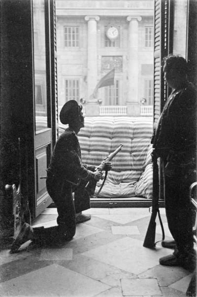 Defensa del Palau de la Generalitat durant l'intent de cop d'estat de juliol de 1936