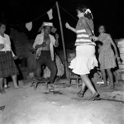 Festa nocturna a Montjuïc