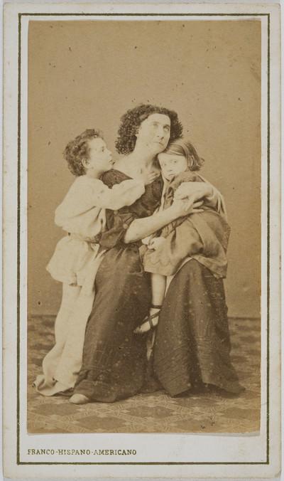 Retrat d'Adelaide Ristori a «Medea»