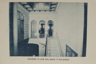 Estudi Fotogràfic Napoleón. Accés als salons i galeries