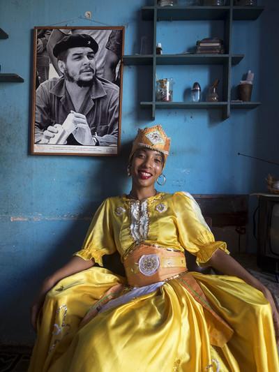 Noia al Callejón de Hamel (Cuba)