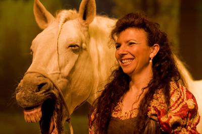 Magali i el seu cavall (Barcelona)