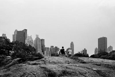 Rock formation at Central Park