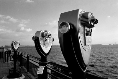 Coin operated Binoculards at Statue of Liberty