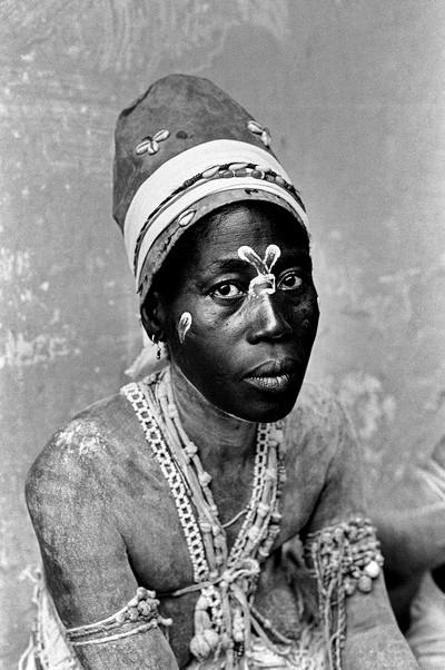 Sèrie: Viatge al país de les ànimes. Komian del sanctuari de Tanguelan. Costa d'Ivori 1998.