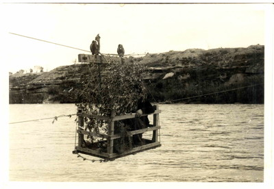 Telefèric a Móra d'Ebre, Batalla de l'Ebre, al novembre del 1938