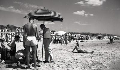 Banyistes a la platja