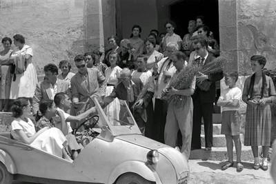 Benedicció de vehicles per Sant Cristòfol a l'ermita
