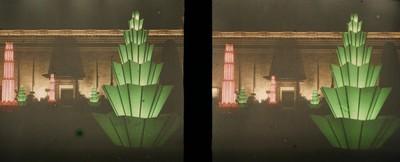 El Palau de la Reina Victòria a l'Exposició Internacional de Montjuïc de nit