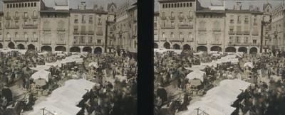 Mercat del Dissabte Sant a la plaça de Vic