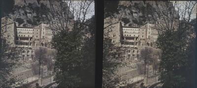Vista parcial del monestir de Montserrat