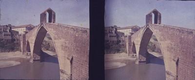 Pont del Diable de Martorell sobre el riu Llobregat
