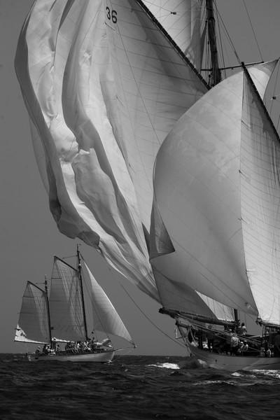 Iots a vela en la regata Puig Vela Clàssica Barcelona