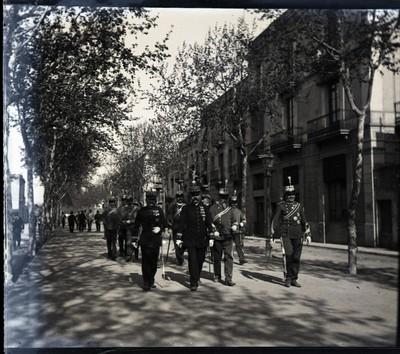 Soldats a la Rambla
