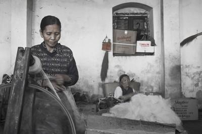 Teixidores tibetanes Darjeeling Índia