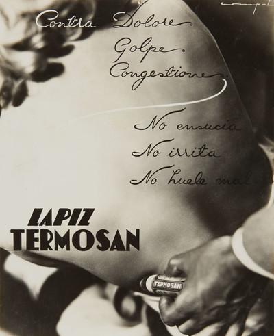 Fotografia publicitària de «Lápiz Termosan»