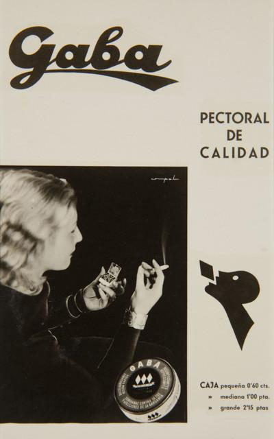 Fotografia publicitària de les pastilles «Gaba» (remei pectoral)