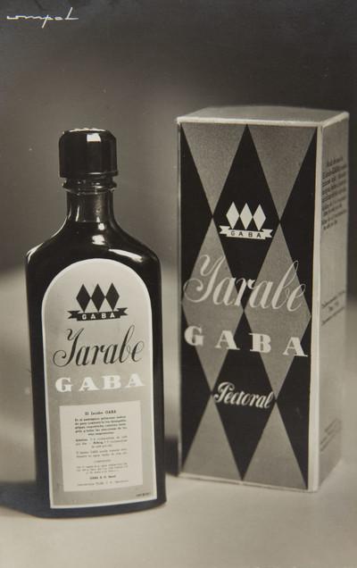 Fotografia publicitària del xarop «Gaba» (remei pectoral)