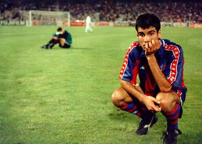 Pep Guardiola després de perdre el Barça la final de la copa de Europa a Atenes davant el Milan per 0 a 4