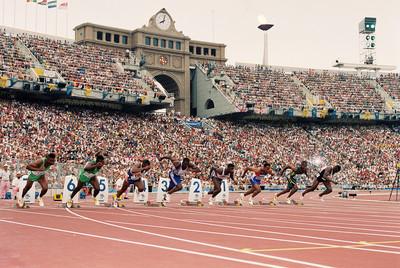 Sortida de la final de 100 metres en els Jocs Olimpics de Barcelona/ De la sèrie Jocs Olimpics