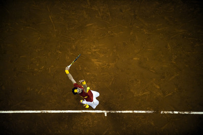 Rafa Nadal durant la final de la Copa Davis al Palau Sant Jordi/ De la sèrie Barcelona i l'esport