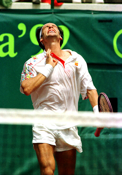 Jordi Arrese s'assegura una medalla en la prova individual de tennis als Jocs Olimpics de Barcelona/ De la sèrie Jocs Olimpics