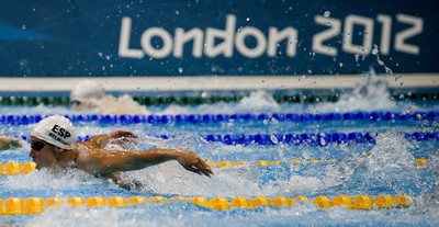 La nadadora Mireia Belmonte als Jocs Olimpics de Londres/ De la sèrie Jocs Olimpics