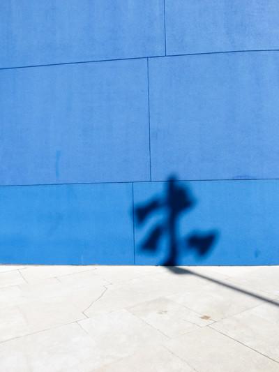 reflexión en azul