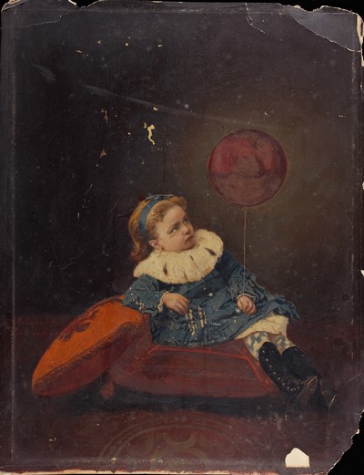 Retrat d'estudi d'una nena