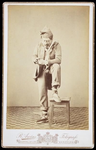Retrat de l'actor Iscle Soler caracteritzat per a l'obra de teatre Combats del cor