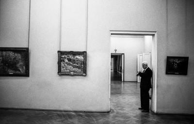 Vigilante en el Museo Hermitage. Sant Petersburgo.